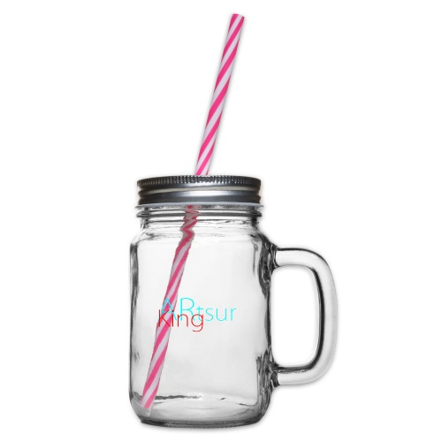 ARtsurKing Logo - Glass jar with handle and screw cap
