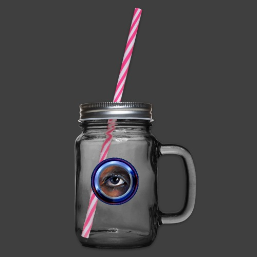 I'm Watching You - Glass jar with handle and screw cap