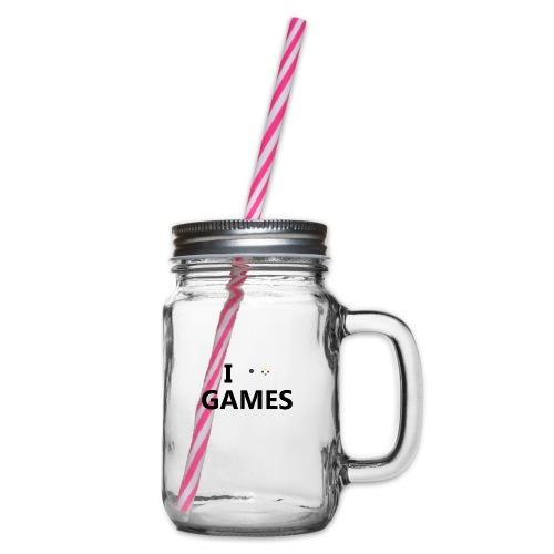 I Love Games - Jarra con asa y tapa roscada