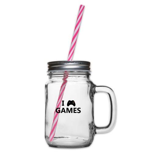 I Love Games 3 - Jarra con asa y tapa roscada