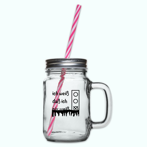 NIX - Glass jar with handle and screw cap