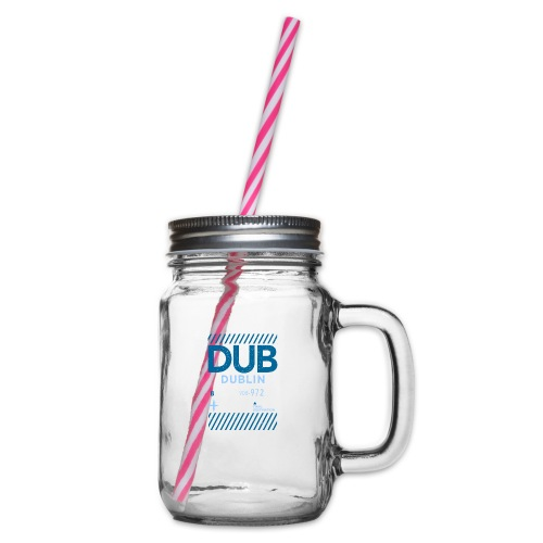 Dublin Ireland Travel - Glass jar with handle and screw cap