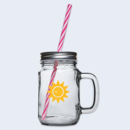 Winky Sun - Drinkbeker met handvat en schroefdeksel