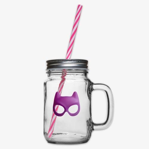 Bat Mask - Słoik do picia z pokrywką
