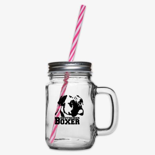 Deutscher Boxer - Henkelglas mit Schraubdeckel