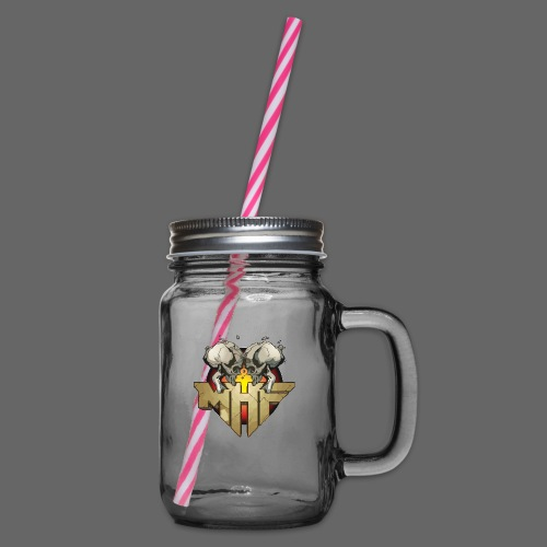 new mhf logo - Glass jar with handle and screw cap