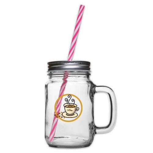 Kaffeeemblem - Henkelglas mit Schraubdeckel