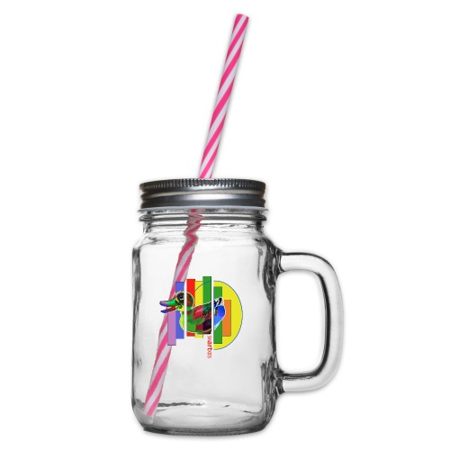 smARTkids - Gutsy Duck - Glass jar with handle and screw cap
