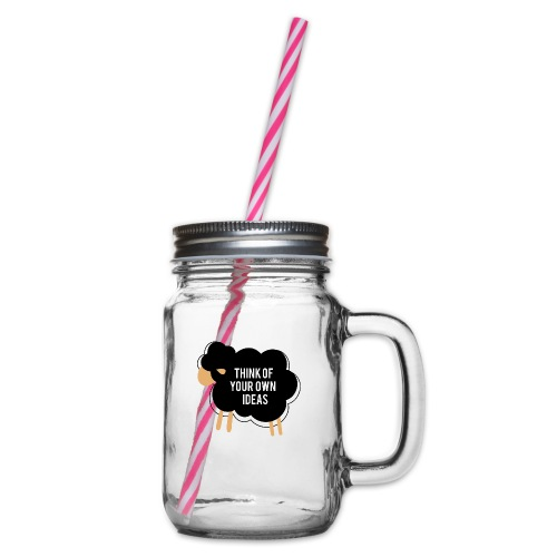 Think of your own idea! - Glass jar with handle and screw cap