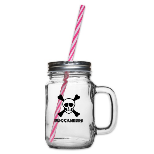 Buccs1 - Glass jar with handle and screw cap