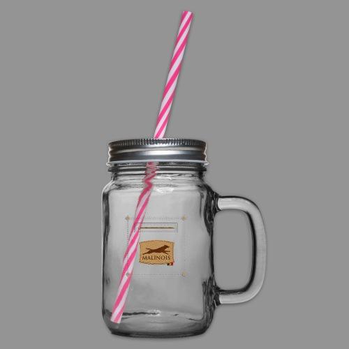 Belgian shepherd Malinois - Glass jar with handle and screw cap