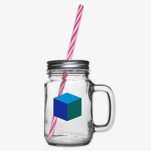 Cube - Glass med hank og skrulokk