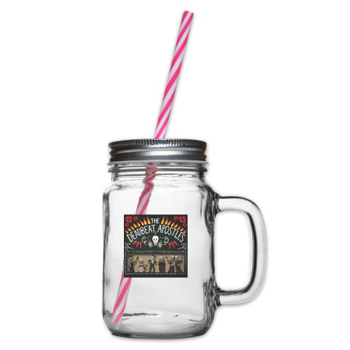 The Deadbeat Apostles - Glass jar with handle and screw cap