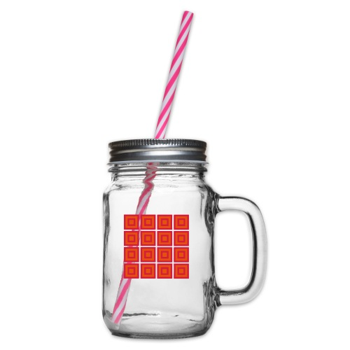 quadrate 18 - Henkelglas mit Schraubdeckel