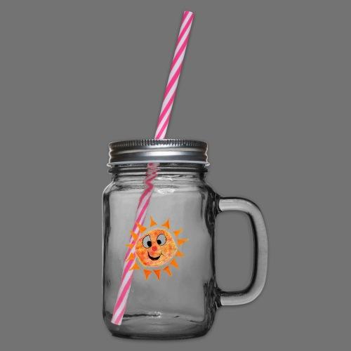 Sonne - Henkelglas mit Schraubdeckel