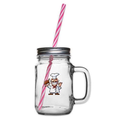 vl082a_koch_4c - Henkelglas mit Schraubdeckel