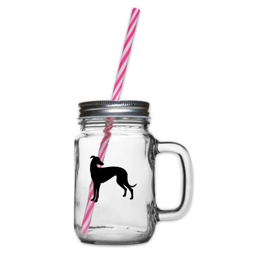Greyhound - Henkelglas mit Schraubdeckel