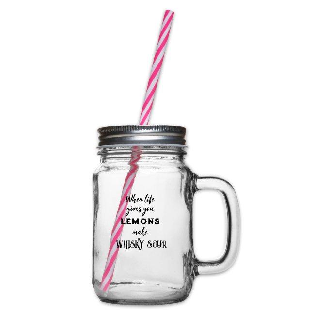 Whiskey Sour / Lemons / Whiskey Fan - Gift Idea
