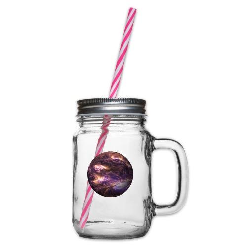 planet - Henkelglas mit Schraubdeckel
