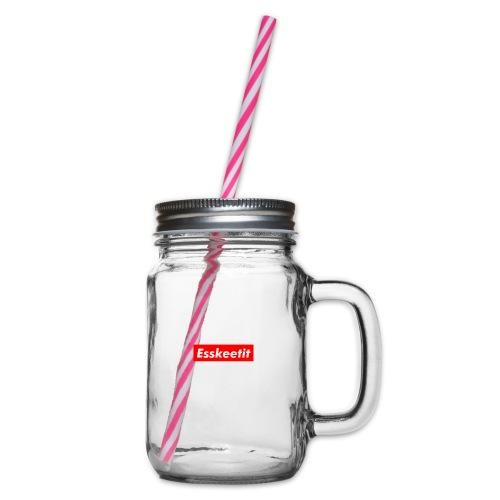EWC ESKETIT MERCH - Glass jar with handle and screw cap
