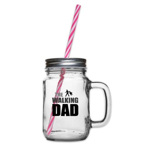 the walking dad auf dem Weg in die lustige Bar - Henkelglas mit Schraubdeckel