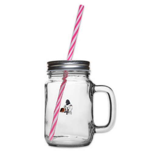 Apes in Space - Glass jar with handle and screw cap