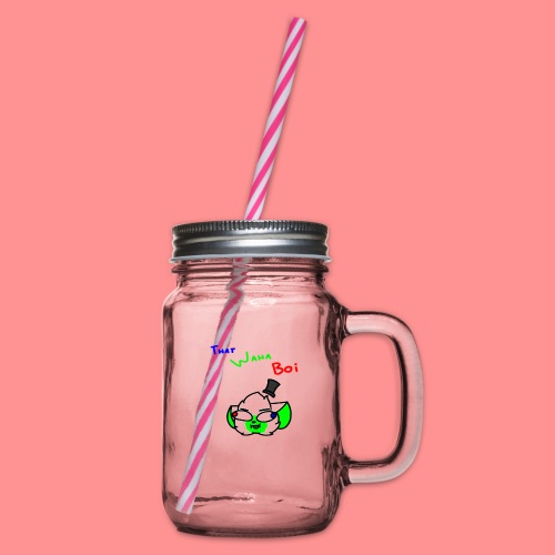 The Waha Boi - Glass jar with handle and screw cap