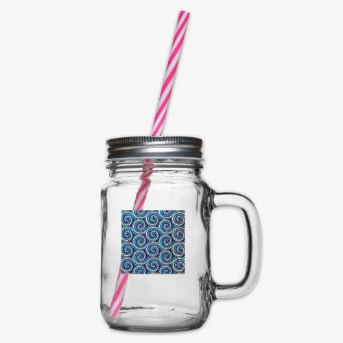 Spirales au motif bleu - Bocal à boisson