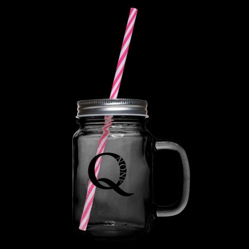 Q Anon Q-Anon Original Logo - Henkelglas mit Schraubdeckel