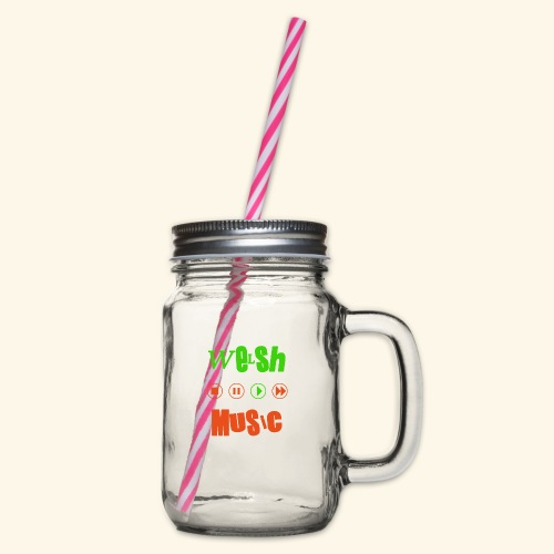 Welsh Music - Glass jar with handle and screw cap
