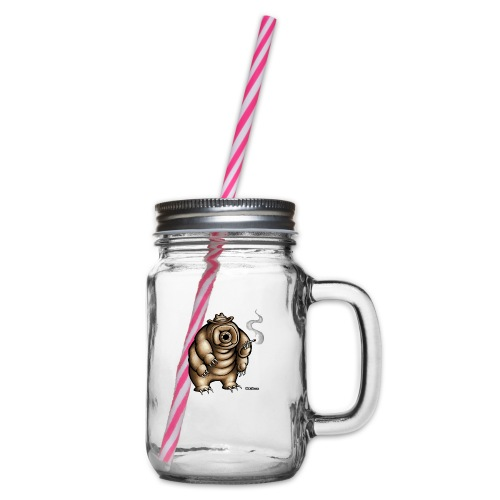 Smokey the Water Bear - Glass jar with handle and screw cap