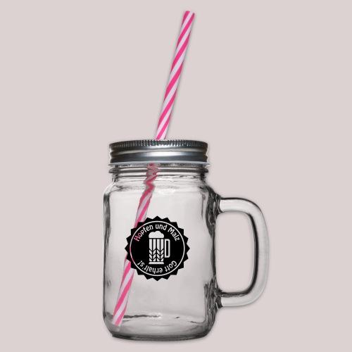 Hopfen und Malz - Gott erhalt's! - Bier - Alkohol - Henkelglas mit Schraubdeckel