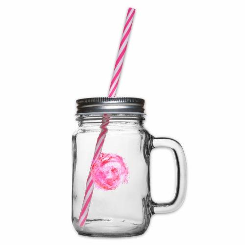 Paint It Pink! - Henkelglas mit Schraubdeckel