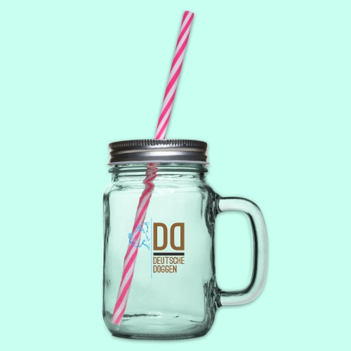 Deutsche Doggen DD - Henkelglas mit Schraubdeckel