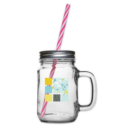 Sommerregen Liebe - Henkelglas mit Schraubdeckel