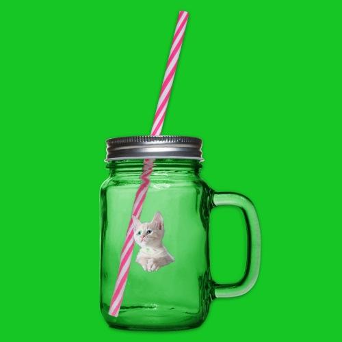 Kitten poesje - Drinkbeker met handvat en schroefdeksel