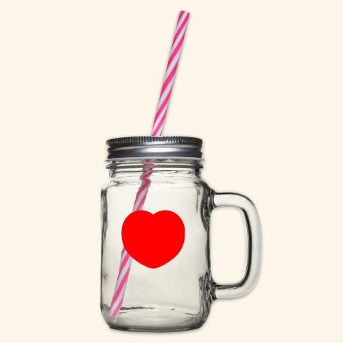 Heart - Henkelglas mit Schraubdeckel