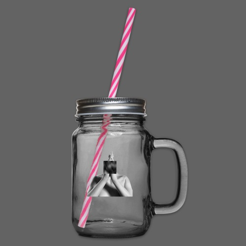 kube w - Glass jar with handle and screw cap