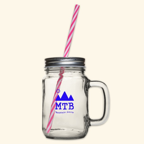 mtb - Glass jar with handle and screw cap