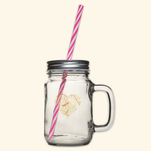 Welsh Beaches - Glass jar with handle and screw cap
