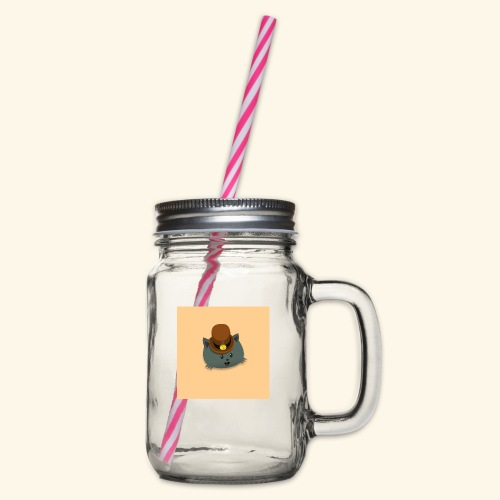 HCP custo 12 - Glass jar with handle and screw cap