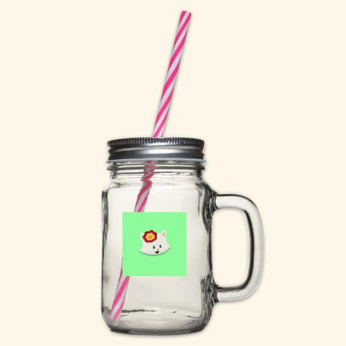 HCP custo 14 - Glass jar with handle and screw cap