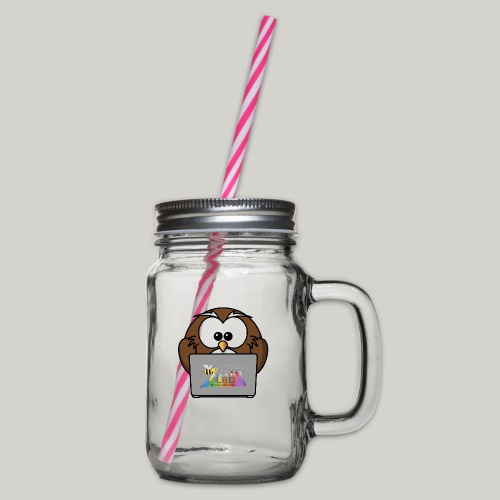 iLab.Owl - Glass jar with handle and screw cap