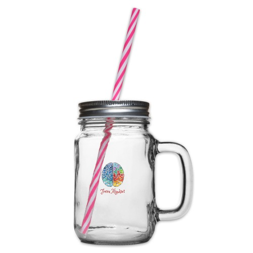 Forex mindset - Glass jar with handle and screw cap
