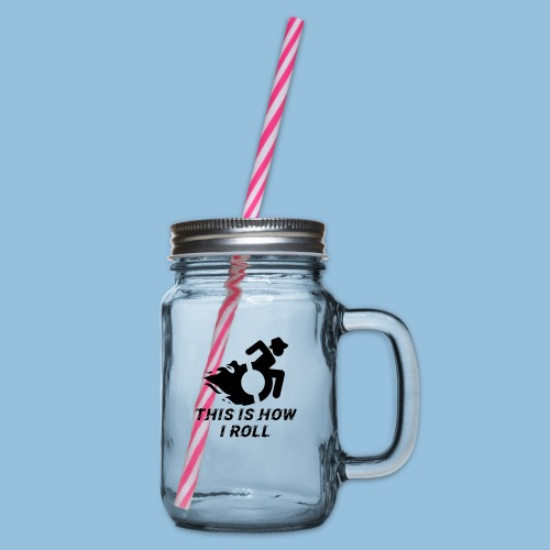 Howiroll12 - Drinkbeker met handvat en schroefdeksel
