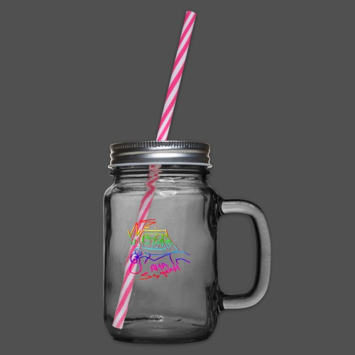 The Coolest Rap - Glass jar with handle and screw cap