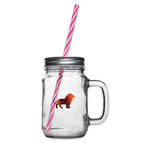 The Lion of Wall Street - Glass jar with handle and screw cap