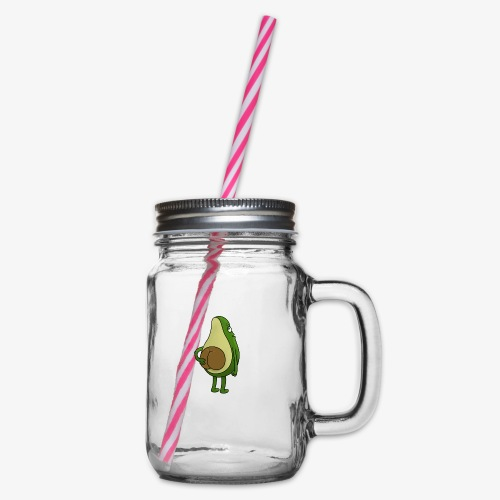 Avokado - Henkelglas mit Schraubdeckel