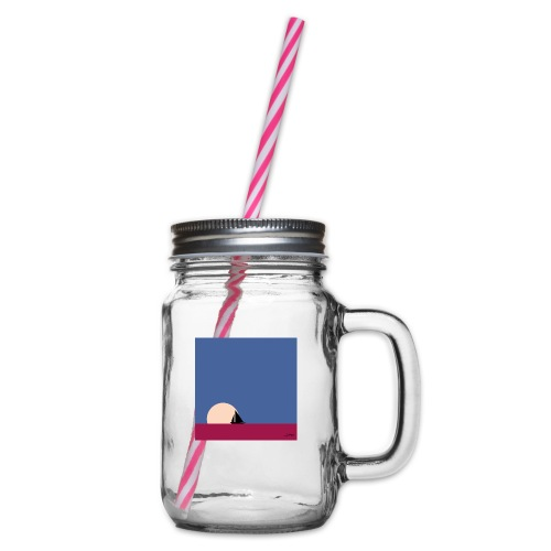 Oh my boat! - Glass jar with handle and screw cap