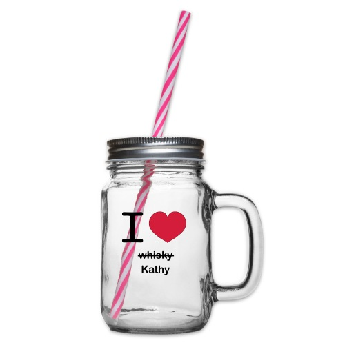 ilovekathy - Drinkbeker met handvat en schroefdeksel